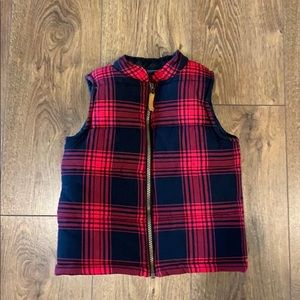 ⛄️🎄 Carter's Black and Red Plaid Vest 🎄⛄️